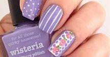 Lavender and Violet Nails