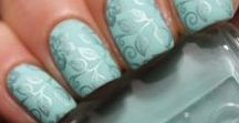 Mint and Turquise Nails