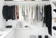wardrobe. / functional yet beautiful ways to store & style clothes.