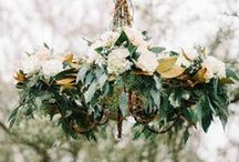 chandelier. / floral chandeliers // decorative detail