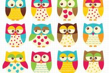 OWLS printables / Civette e gufi da stampare e ritagliare