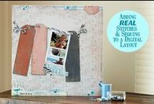 Hybrid Scrapbook Layouts / Hybrid scrapbook pages using digital kits available at www.snapclicksupply.com