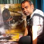 Nostalgia of Indian Steam Locomotives / A successful series of paintings by Kishore Pratim Biswas, working on the context of Indian heritage last 25 years.