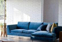 Blue Small Sofa
