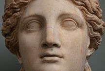 CELEBRITY  HEADS / Asirios,sumerios,etruscos,romanos,griegos,etc. todas las celebres y no tan celebres...que  han marcado el arte  antiguo.  / by Maria Dolores Fernandez