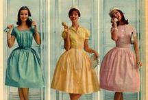 1950's Vintage Summer Day Dresses / Inspiration for sewing 1950s inspired dresses for summer casual wear