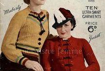 Vintage Knitpicky / Vintage knits