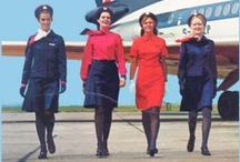 Flight Attendants / Airline Cabin Crew Uniforms from Past and Present