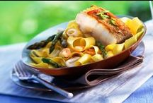 Pasta: Fish & Seafood Recipes / Fish and seafood recipes to try and make for lunch or dinner, with no meat ingredients