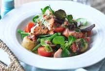 Salads: Fish & Seafood Recipes / Fish and seafood recipes to try and make for lunch or dinner, with no meat ingredients