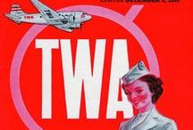 Travel Posters: TWA / A collection of vintage airline travel posters advertising TWA Trans World Airlines
