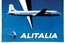 Travel Posters: Alitalia / A collection of vintage airline travel posters advertising the airlines of Italy