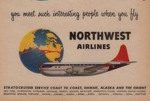 Travel Posters: Northwest Airlines / A collection of vintage airline travel posters advertising Northwest Orient Airlines
