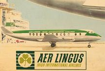 Travel Posters: Irish Airlines / A collection of vintage airline travel posters advertising the airlines of Ireland