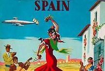Travel Posters: Iberia / A collection of vintage airline travel posters advertising the airlines of Spain