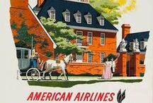 Travel Posters: American Airlines / A collection of vintage airline travel posters advertising American Airlines