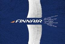 Travel Posters: Finnair / A collection of vintage airline travel posters advertising the airlines of Finland
