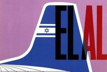Travel Posters: El Al Israel Airlines / A collection of vintage airline travel posters advertising the airlines of Israel