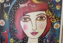 Pinturas. Dibujos. Imágenes. / Pinturas, dibujos, fotografías que pondría enfrente para poder mirar y quizá soñar.