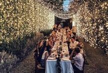 Wedding Lighting / Be it fairy lights, lanterns, candles or giant letter