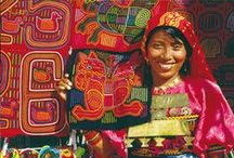 """Mola Art of Kuna / Molas are the textile art made by the Kuna People who live in the northwest of the Isthmus of Panama, known as """"Comarca de San Blas""""."""