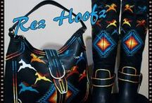 """Rez Hoofz Art&Fashion / Rez Hoofz(Pine RidgeNA Reservation,South Dakota) is an independently owned business, specializing in painted contemporary and custom made Native American design work. The conception of Rez Hoofz started in 2006, when artist Joy Lynn Parton (Oglala Lakota/Ft. Sill Apache) received her artistic vision to put fourth painted dolls of the Lakota persuasion. The dream as she would interpret it, coincided with a traditional lakota story as old as time. In coming, the tale of the """"No Face Woman""""..."""