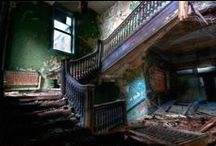 abandoned places / Abandoned buildings, deserted by humanity and left for nature to reclaim