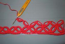 Picots, crochet borders
