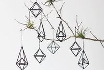 Geometric Wedding Inspiration / Geometric Shapes Decor Contemporary Wedding