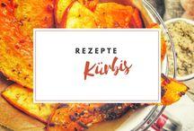 Rezepte | Kürbis / Kürbis Rezepte - Rezepte mit Kürbis, Hokkaido, Butternut und mehr! Ein bunter Mix an veganen Kürbis Rezepten, Kürbisrezepten mit Fleisch und herzhaften und süßen Kürbisspeisen.