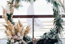 Floral Moon Gates / #moongates Circular Floral Arch