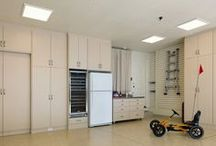 Garages / Transform your garage into a multifunctional space that not only has enormous storage capacity, but is also organized and neat enough for a play room or other uses. Add work or hobby benches to make the most of your space. Our Garage Cabinets are available in three attractive finishes and built to standards unsurpassed in the industry. Complete your transformation with one of our complementing Granitex Epoxy floor finishes.