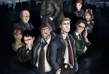 Gotham / Gotham is an American crime drama television series developed by Bruno Heller, based on characters published by DC Comics and appearing in the Batman franchise, primarily those of James Gordon and Bruce Wayne.