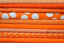 Textiles: in orange