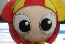 bonecos e brinquedos / bonecos e brinquedos feitos de feltro / by Teresa Ventura de Andrade