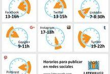 horarios de publicación / Mejores horarios de publicación en las redes sociales