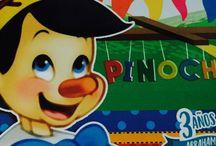 Pinocho 3 party Abraham / Hecho a mano