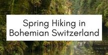 Spring Hiking in Bohemian Switzerland / Spring hikes in the Bohemian Switzerland National Park, located in the north of the Czech Republic. Awesome for day trips from Prague to explore the great outdoors!