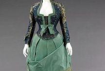 Ladies fashion 1870's