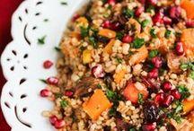 Salaatteja ja kevyttä ruokaa / Keveyttä jouluruokailuun. Salaatteja, keittoja ja kasviksia!