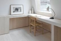 · WORKSPACE · / · design · ideas · functional · minimalistic · small · home office · desk · office in the niche · inspiration · home improvement ·