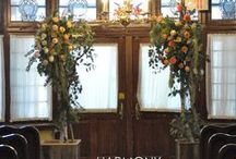 HARMONY Wedding Decor / The perfect complement to your wedding day decor :: centrepieces, archways, aisle, ceremony venue....