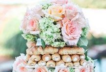 Cakes for a Wedding / Flowers to top it off!