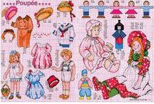 haft krzyżykowy - dziecięce / by Renata