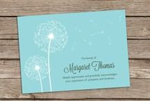 Thank You Notes and Memorial Cards / Thank you notes and memorial Cards
