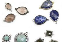 intercalaire en pierres et métal / intercalaires de pierres naturelles sertis en métal