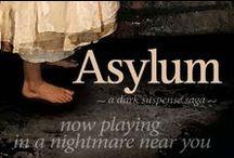 "Asylum, dark suspense saga / Mystery, scandal, family secrets in New England c.1900 & 1970s. ASYLUM, a dark suspense saga. A book club favorite. ""A modern Gothic must-read."""