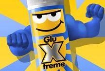 GLU X TREME - La nueva manera de Pegar / El bricopegamento escolar. Pega madera  con multiples materiales. Facil de aplicar. Fija en pocos segundos. No pega los dedos. Sin Disolventes.