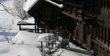 Winter im Untergschwend im Schwarzwald / Winterliche Dekoration und Geschirre im Landhausstil