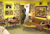 My Retro Bohemian Home / I heart retro. I heart the boho look. Why can't I have both? *pout*